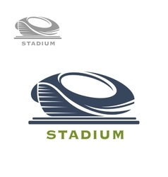Sport arena or stadium icon vector