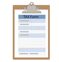 Tax form vector