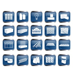 Building material icon set vector