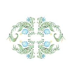Blue flowers Floral ornament vector image