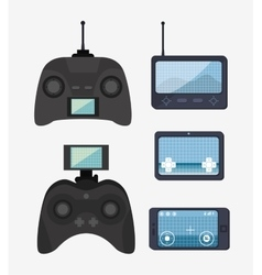Remote control drone isolated icon design vector