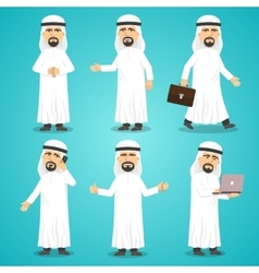 Arab images set vector