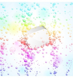 baubbles background vector image vector image