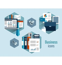 Business concepts set vector image