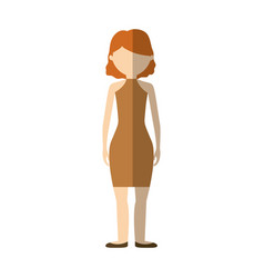 character woman faceless image vector image vector image