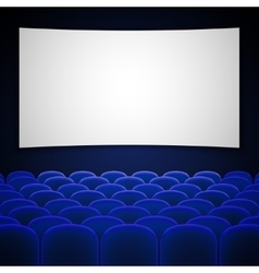 Cinema movie theatre interior vector