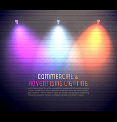 Colored light effects poster vector