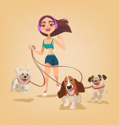 dog walking service vector image vector image