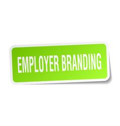 Employer branding square sticker on white vector