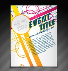 Event brochure template vector