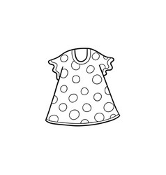 flat cartoon kid girl dotted dress vector image