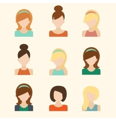 Girls Icons Set vector image vector image
