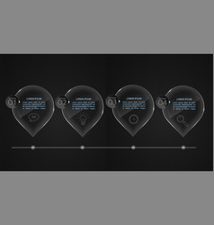 glass banners set off infographic templates vector image vector image