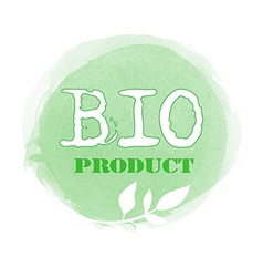 Green bio product label vector