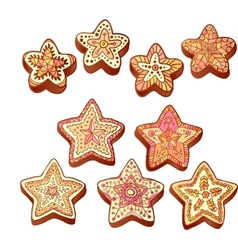 Hand-drawn Christmas honey sweets vector image vector image