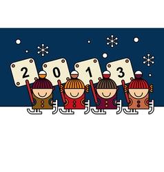 Happy new year card design vector