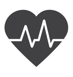 heartbeat glyph icon medicine and healthcare vector image vector image
