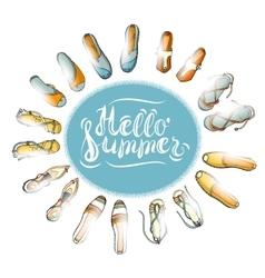 Hello Summer Color vector image vector image