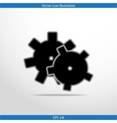 icon of gears vector image