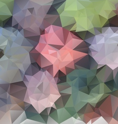 Pastel spring flower polygonal triangular pattern vector