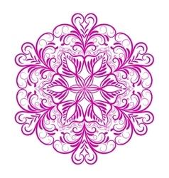 Pink flower mandala over white vector