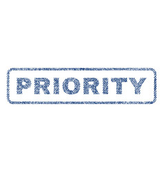 Priority textile stamp vector