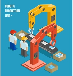 Robotic production line vector
