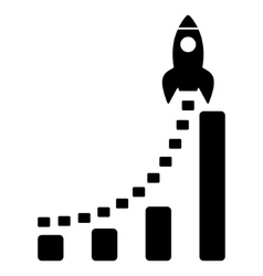 Rocket Business Start Flat Icon vector image vector image