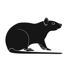 Rodent rat single icon in black style for design vector