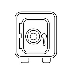 Safe deposit strongbox vector