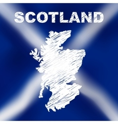 Scottish abstract map vector