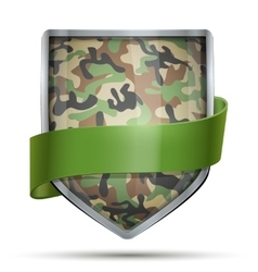 Shield with flag Camouflage vector image vector image