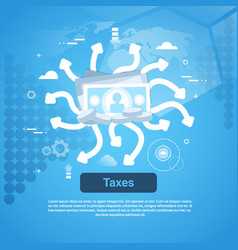 taxes payment concept web banner with copy space vector image
