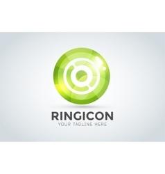 Technology circle logo vector