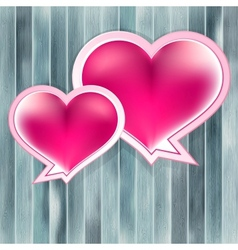 Valentines Day background with heart EPS10 vector image vector image