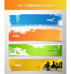 web grunge headers vector image