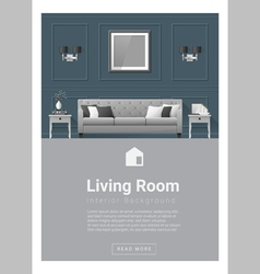 Interior design modern living room banner 5 vector