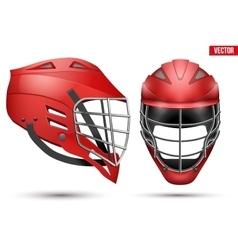 Lacrosse Helmet set vector image