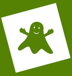 Ghost isolated sign  white icon obtained vector