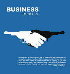 Handshake with guns killing business contract vector