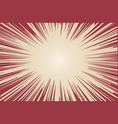Radial background with comic book speed lines vector