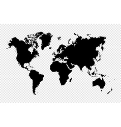 Black silhouette isolated World map EPS10 file vector image
