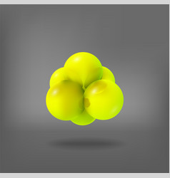 3d molecule structure vector image vector image