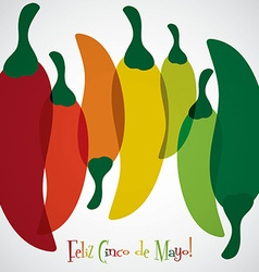 Overlay chilli pepper cinco de mayo card in format vector