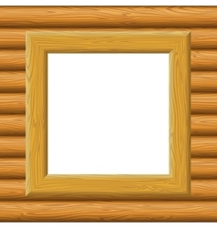 Wooden framework on a wall vector