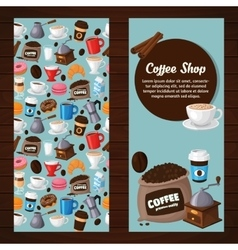 Colorful coffee banners vector