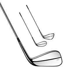 Golf sticks isolated on the white as design vector