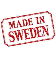 Sweden - made in red vintage isolated label vector