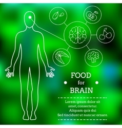 Food for brains vector