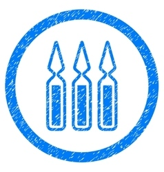 Ampoules rounded icon rubber stamp vector